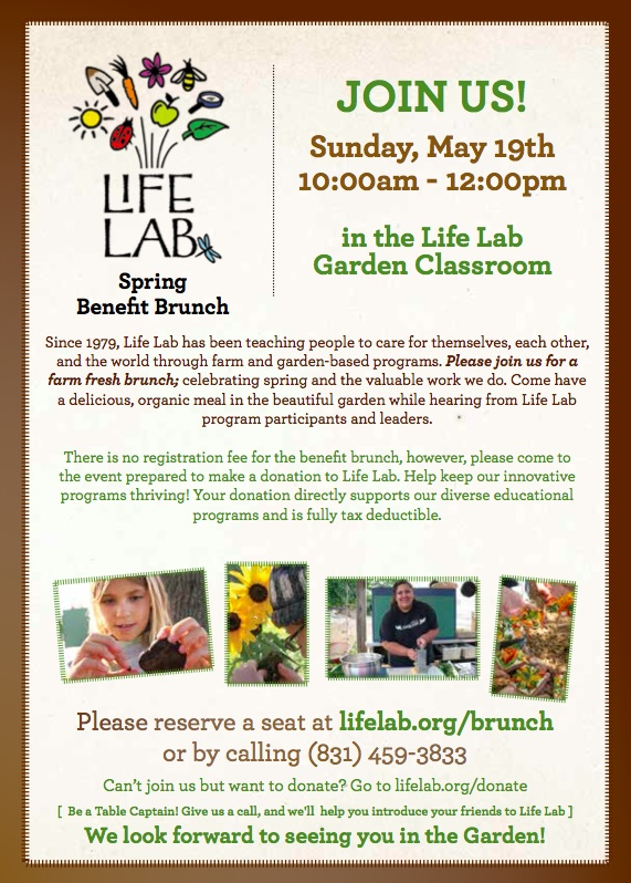 Benefit Brunch in the Life Lab Garden Classroom