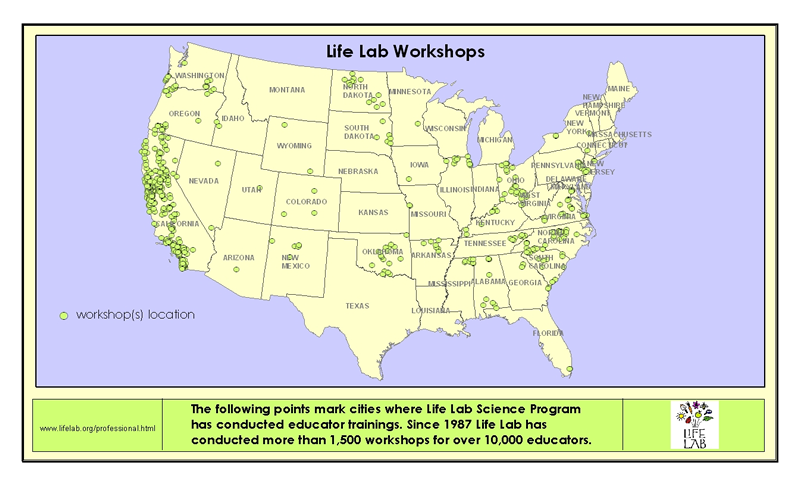 Life Lab Workshops across the nation.