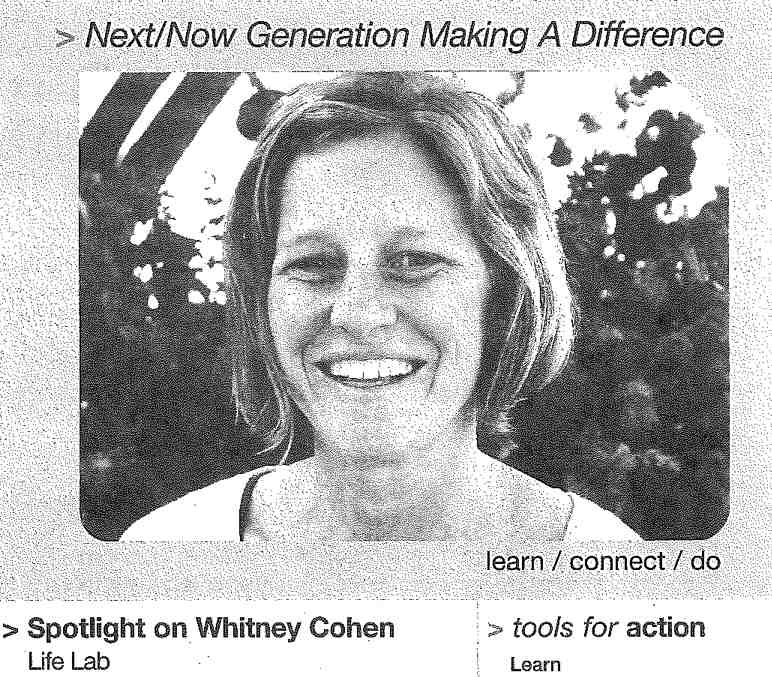 Life Lab's Education Director Whitney Cohen in the Community Spotlight